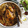 Why the rice beneath this roast chicken is *almost* better than the bird itself