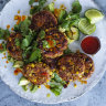Karen Martini's chicken and corn koftas with coriander and avocado