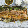 Karen Martini's roasted citrus salmon with charred fennel and shallot salad