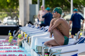 Australian Paralympian Ahmed Kelly at a training camp in Cairns.