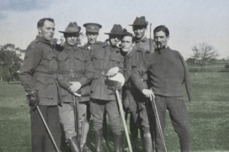 The long road to recovery:  wounded soldiers at Hethersett Hospital in Melbourne.