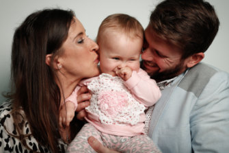 Bethan and Johnny McElwee with Aviana last year.