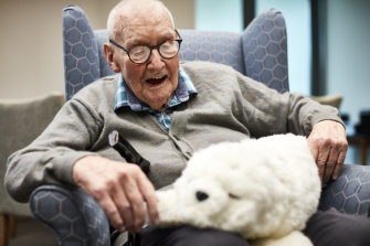 Keith Thornton is not living with dementia, but bought Paro for his residential centre.