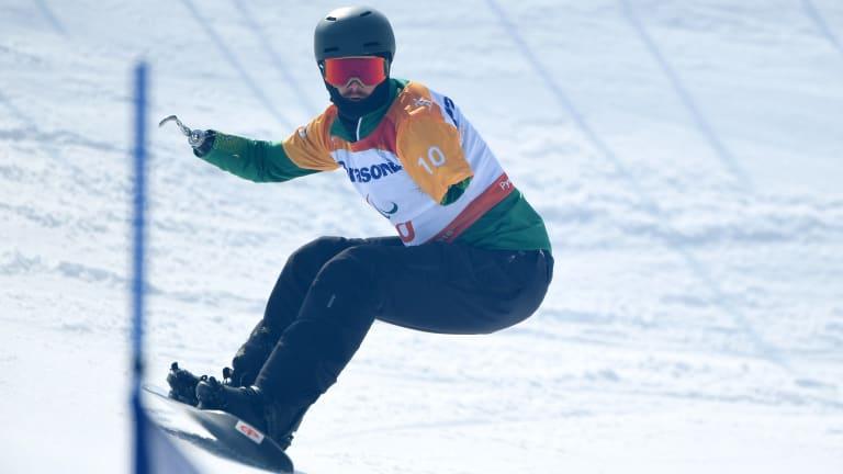 Sean Pollard in action in PyeongChang.