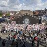 Tears as defaced mural of 'saint' Marcus Rashford becomes a shrine to decency