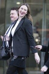 Selina Holder leaving court on Monday.