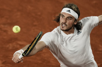 Stefanos Tsitsipas maintained his perfect record in grand slam quarter-finals.
