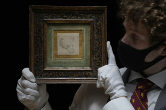 """Leonardo da Vinci's Head of a Bear: """"You're buying a name. It's nothing to do with the love of drawings,"""" said Jean-Luc Baroni, a dealer in museum-quality old master drawings."""
