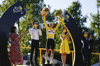 Tadej Pogacar claimed the yellow jersey, along with the mountains classification and the young rider's competition.