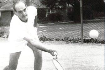 Thomas 'Charlie' Boag was described as a Canberra tennis icon.