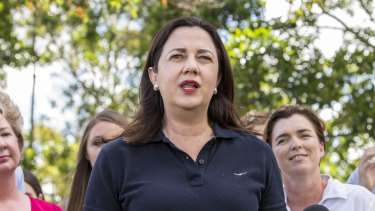 Premier Annastacia Palaszczuk said she was confident Labor would secure a majority in the Parliament.