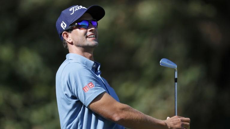 Encouraging: Adam Scott had a solid tournament in Florida.