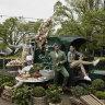 'Happy and joyful': Melbourne's biggest outdoor dining garden opens