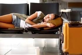Airport bans people from lying down to sleep