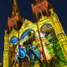 Tall things bright and beautiful as St Mary's lights up