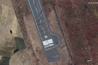 Trenches have been dug across the runway of Axum airport in the Tigray region of Ethiopia.