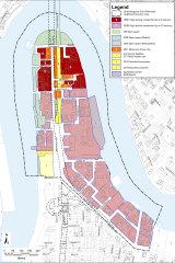 Zoning under the proposed Kangaroo Point Peninsula Neighbourhood Plan