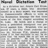 Published in The Age, 12-10-1938.