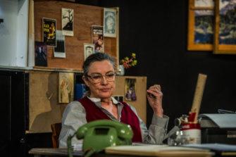 Karen Vickery as <i>Patricia Highsmith in Switzerland</i>.