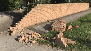 The burglars crashed the victim's car into the property's wall as they were fleeing.