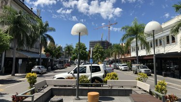 The shopping strip on Logan Road at Woolloongabba.