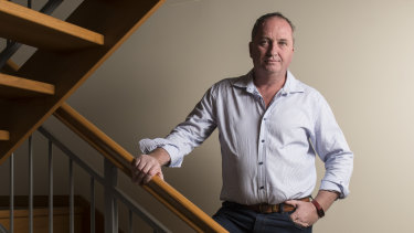 Barnaby Joyce inside the Armidale townhouse.