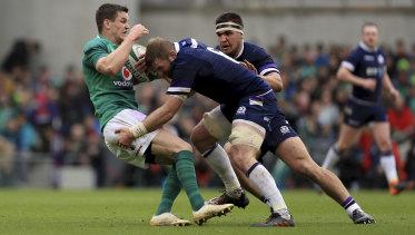Second best: Scotland were well beaten by Ireland last weekend.