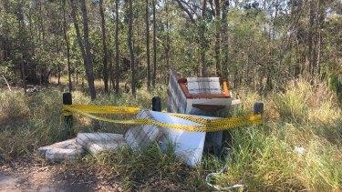 Illegal rubbish dumping at Kuraby.