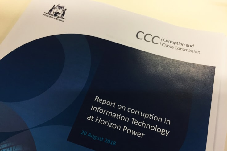 The CCC report on corruption in IT at Horizon Power was tabled in Parliament on Monday.