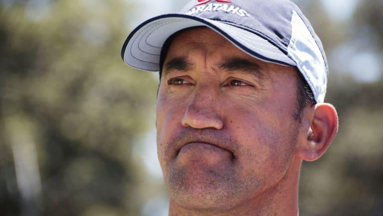 Under pressure: Waratahs coach Daryl Gibson