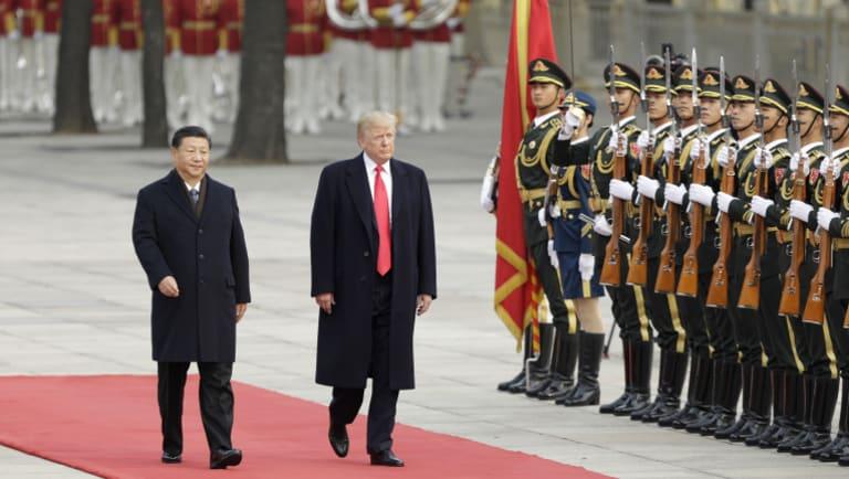 Donald Trump with Xi Jinping in Beijing in November.