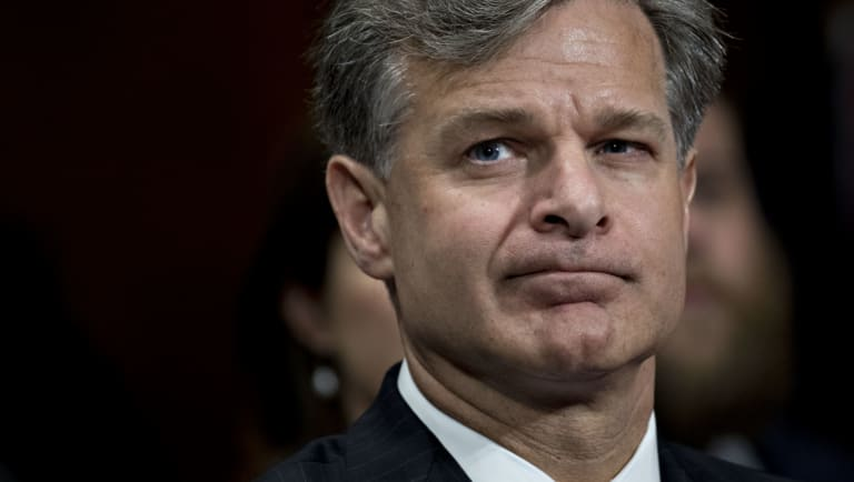 FBI director Christopher Wray has clashed with the White House.