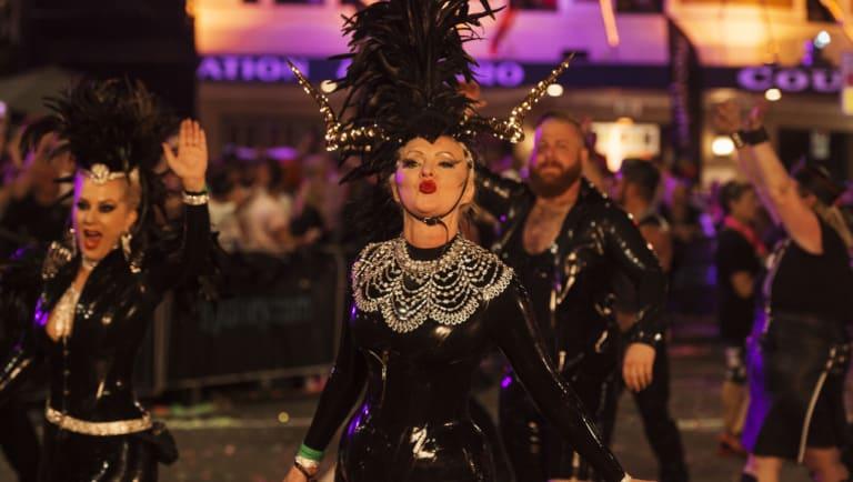 The Sydney Gay and Lesbian Mardi Gras in 2018.