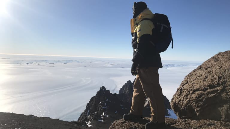 Mr Cameron said he was amazed by the vast nothingness in Antarctica.
