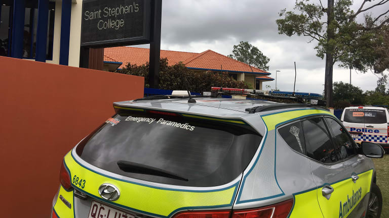 Paramedics attended Saint Stephen's College in Upper Coomera after several students fell ill from a suspected drug overdose.