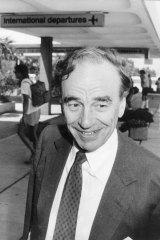 All smiles: Rupert Murdoch in Sydney on January 6, 1987.