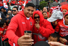 Sea of red to cheer Tonga, but they're still long shots