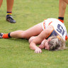 Brid Stack has been cleared of serious injury after a tackle went horribly wrong in her first AFLW pre-season match.