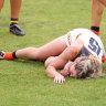 'Millimetres' from paralysis, AFLW player slams tribunal decision