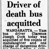 The Age's November 1966 report of the verdict in the trial of bus driver Clarence Cook.