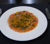 The smoked ocean trout from Buon Riccordo.