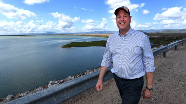 Queensland LNP leader Tim Nicholls is seen at the Ross River Dam in Townsville.
