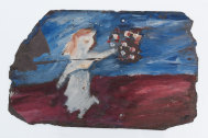 Sidney Nolan's Figure With Flowers, 1942.