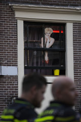It wasn't quite business as usual as the capital's Red Light District emerged from coronavirus lockdown