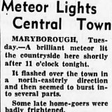 The Age reported a meteor over Maryborough in June 1951.
