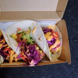 Jackfruit tacos from Assembly Ground in Essendon.