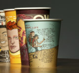 The coffee cups give affectionate images and stories of Warren Meyer, front, and five other missing people.