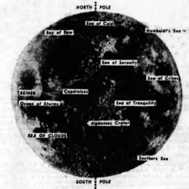 The Moon - Clipping from The Age, published 21/12/1968