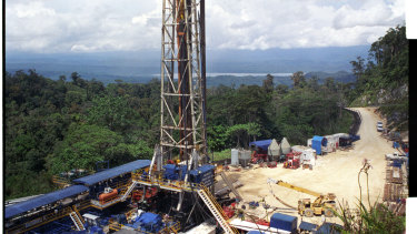 An Oil Search drill site in the Southern Highlands of Papua New Guinea.