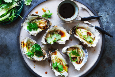 Kylie Kwong's oysters.